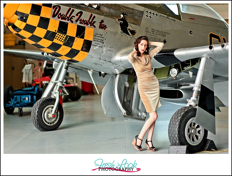 posing by planes