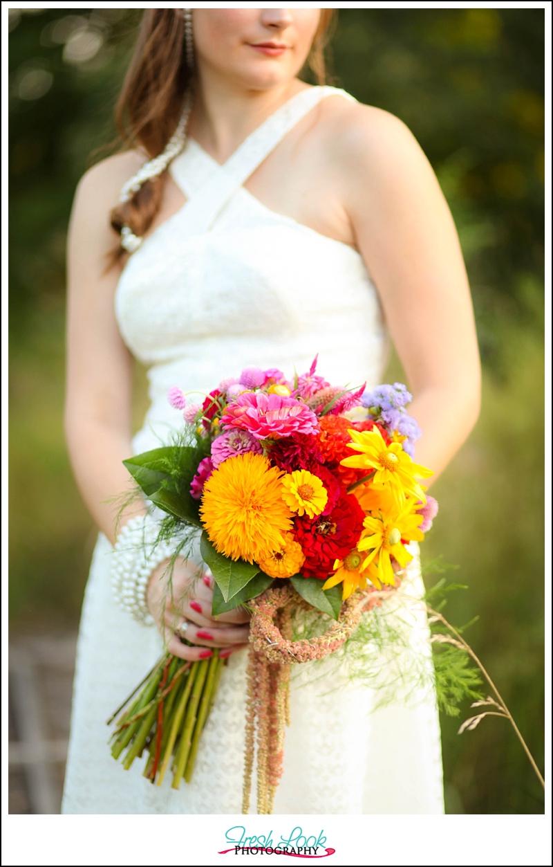 wedding bouquet details