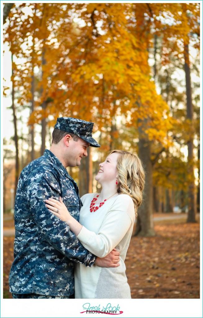 fall military photo shoot