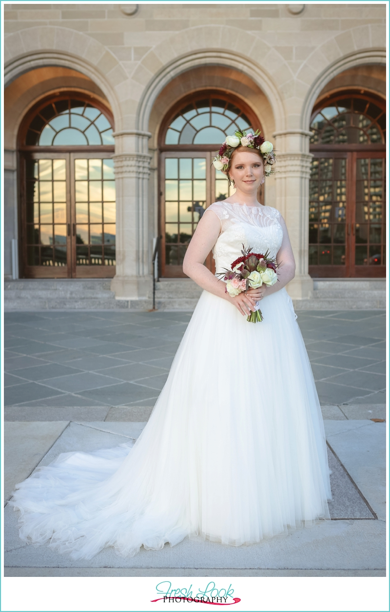bride at the museum
