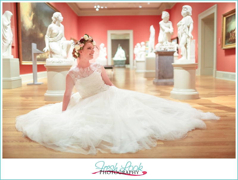 Chrysler Museum Bridal Portraits