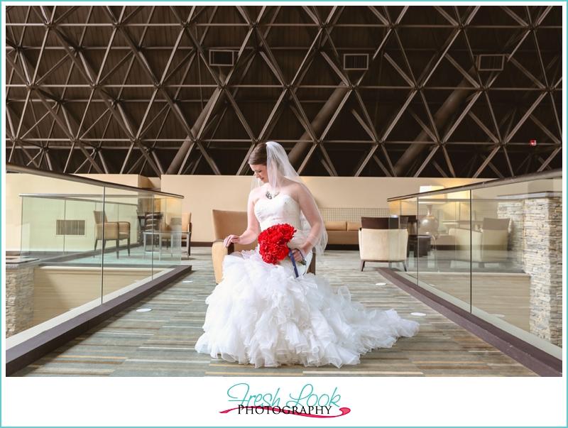 architectural bridal portrait