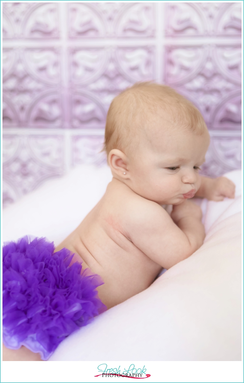 purple baby bloomers
