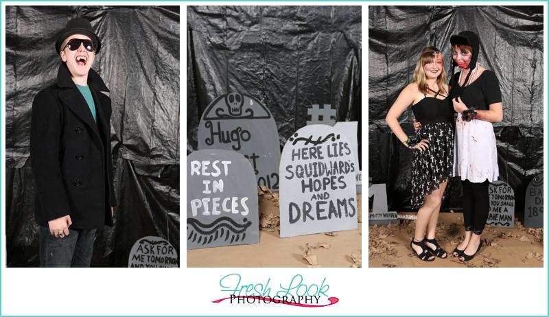 Halloween zombie prom