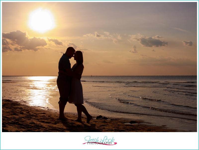 romantic sunset silhouette