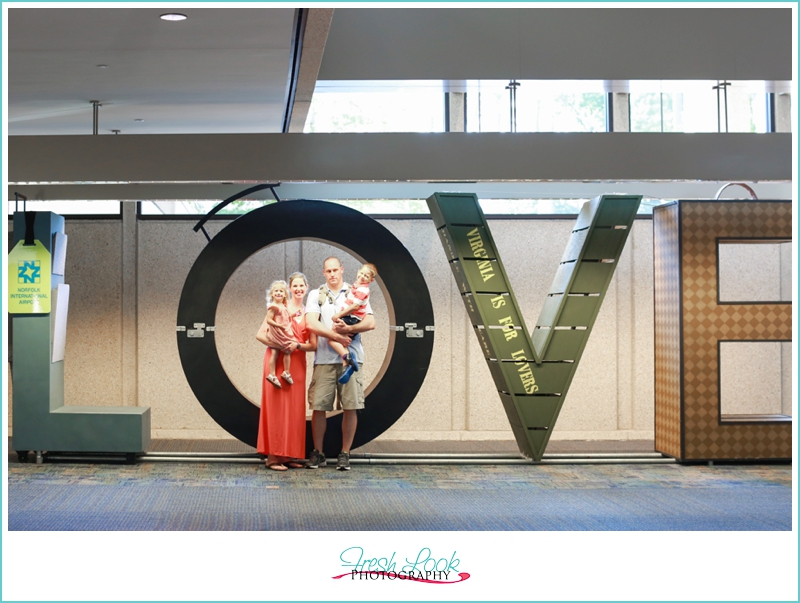 love sign in the airport