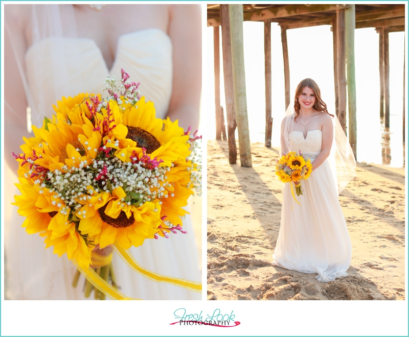 country chic sunflower bouquet