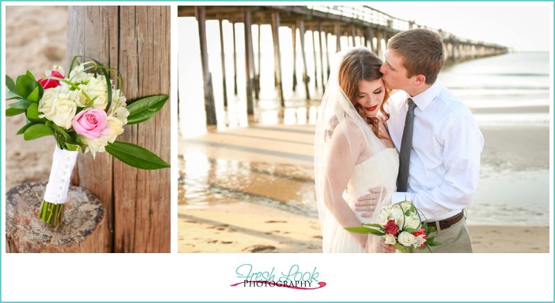 kiss the bride on the beach