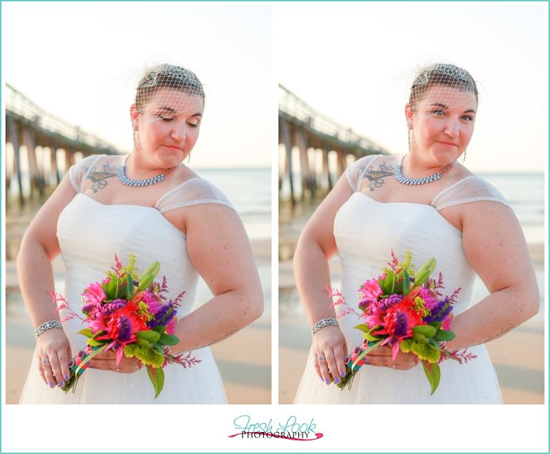 beautiful beach bride