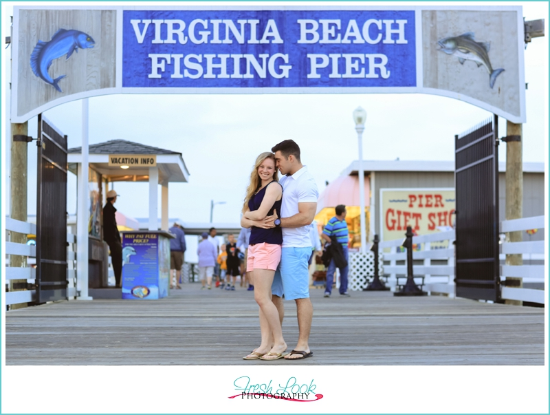 engagement photos on the pier