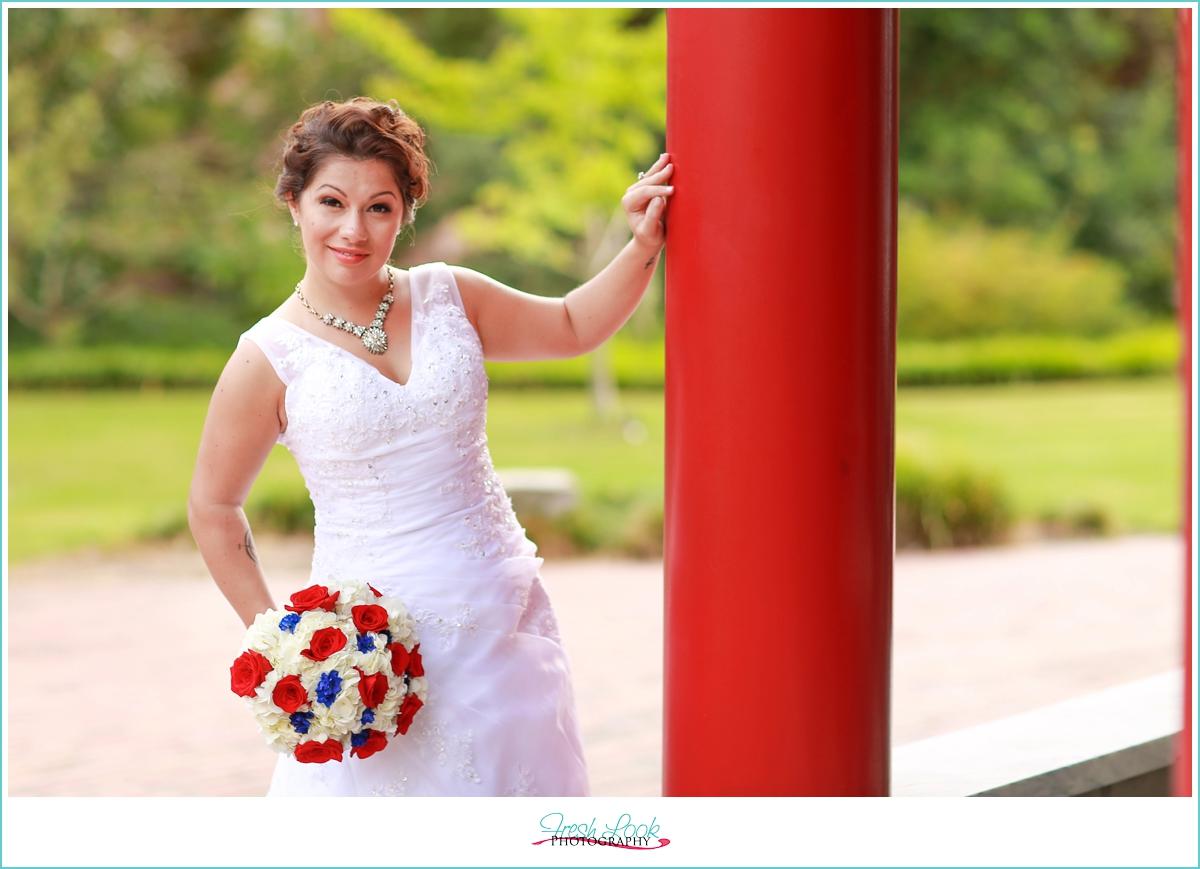 patriotic bridal session