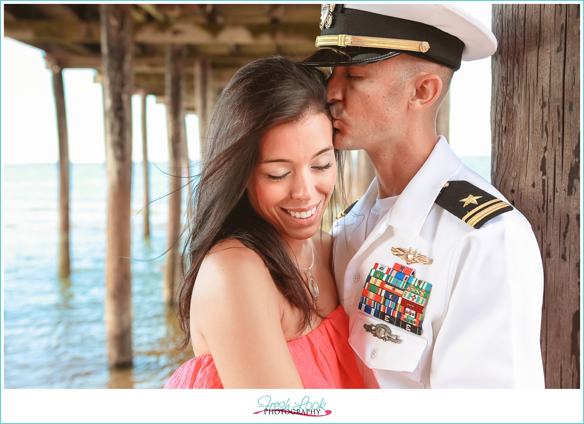 military couple in love