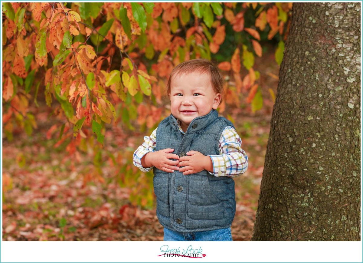 unhappy baby at the photo shoot
