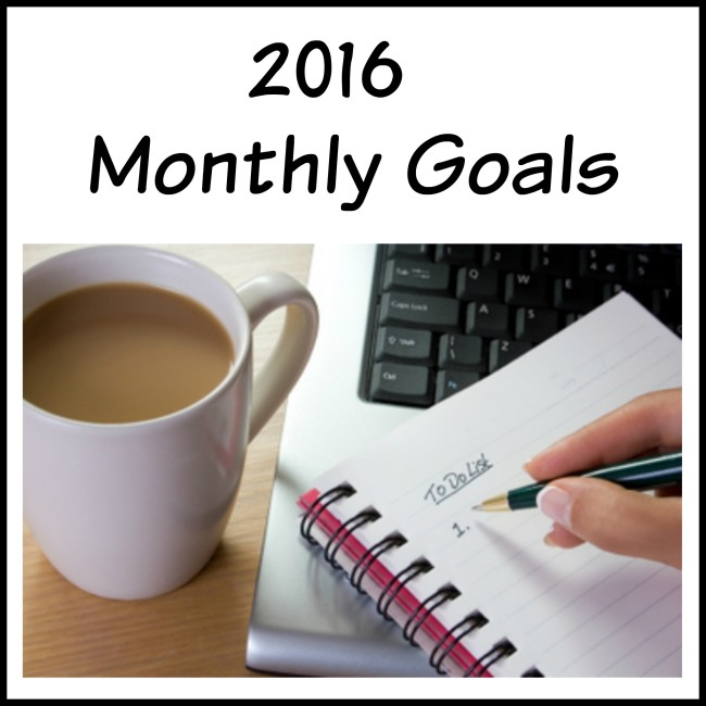 2016 Monthly Goals