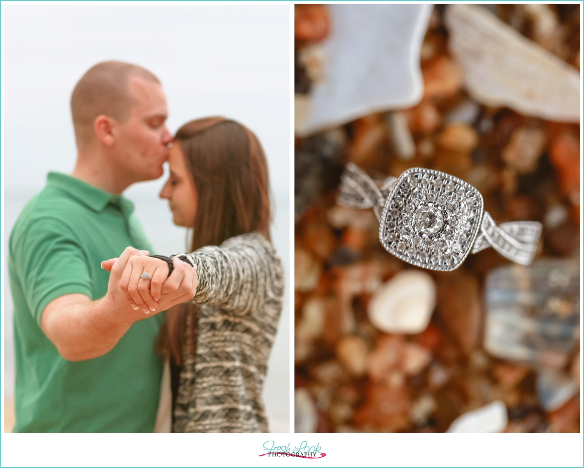 casual Virginia Beach engagement session