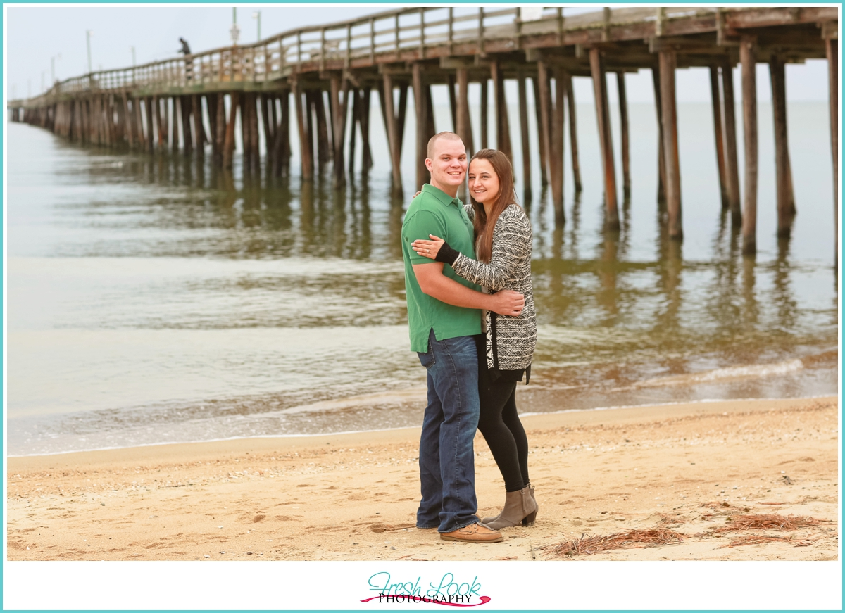 engagement shoot on the beach