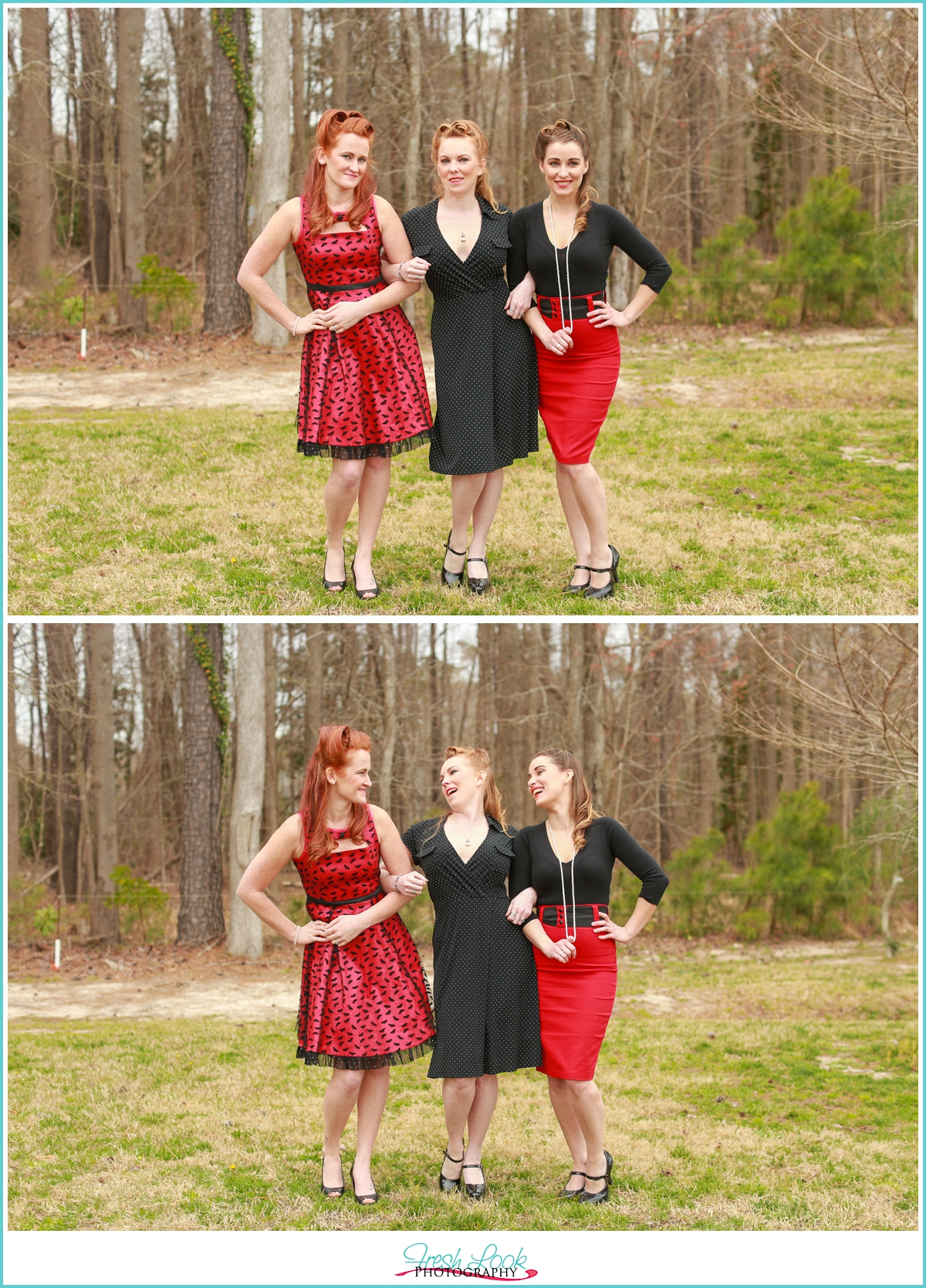 triple trouble pinup girls