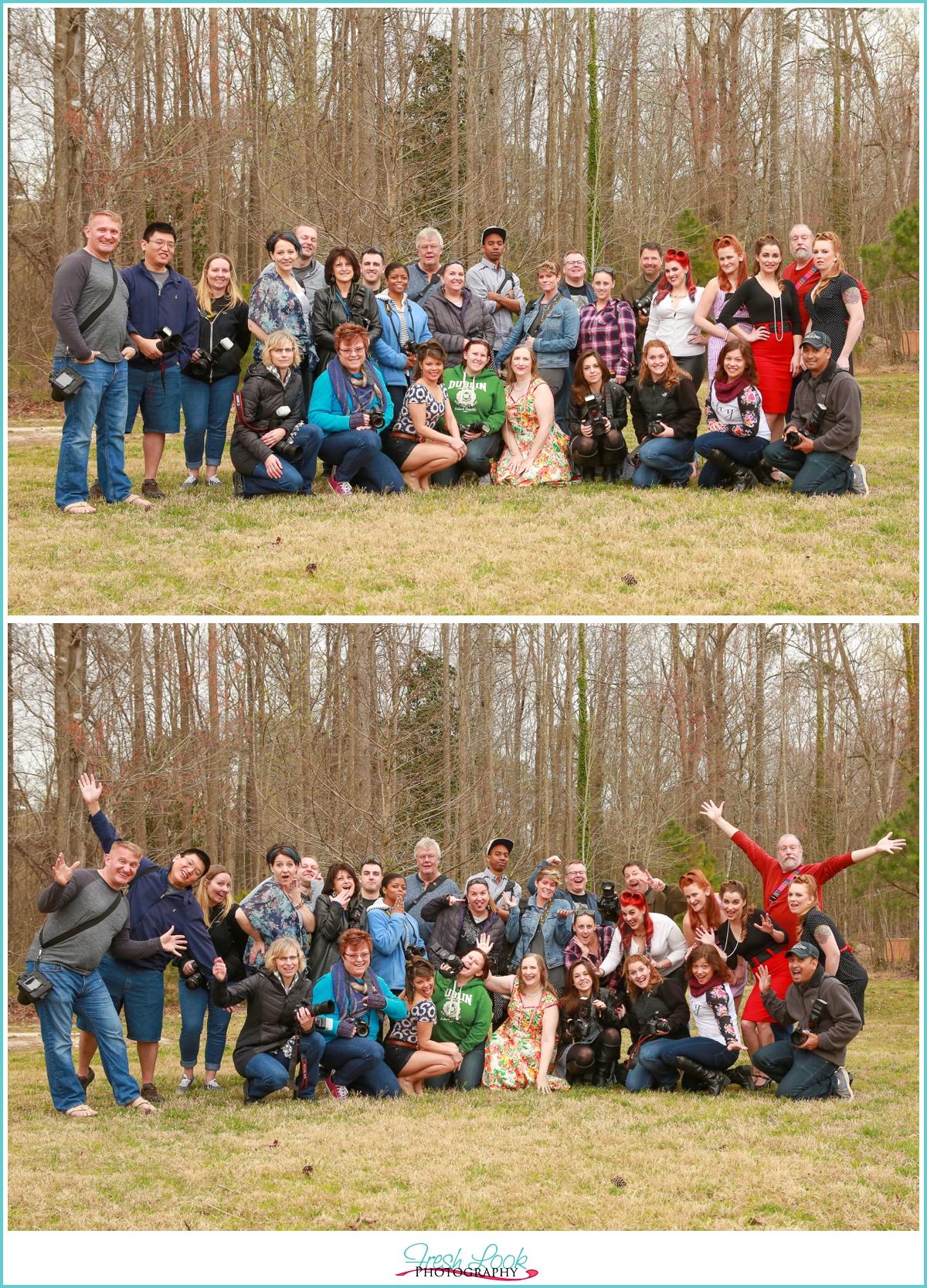 photographers goofing off
