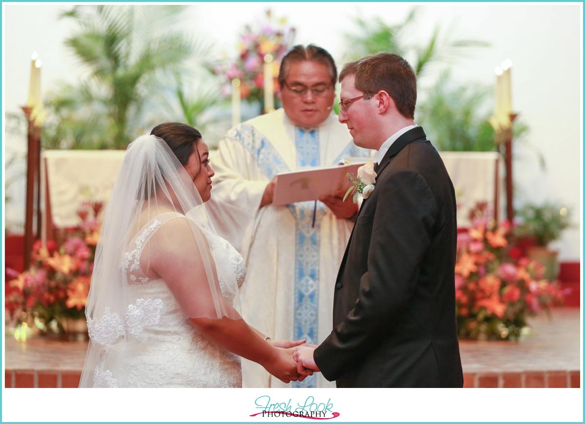 Catholic wedding ceremony