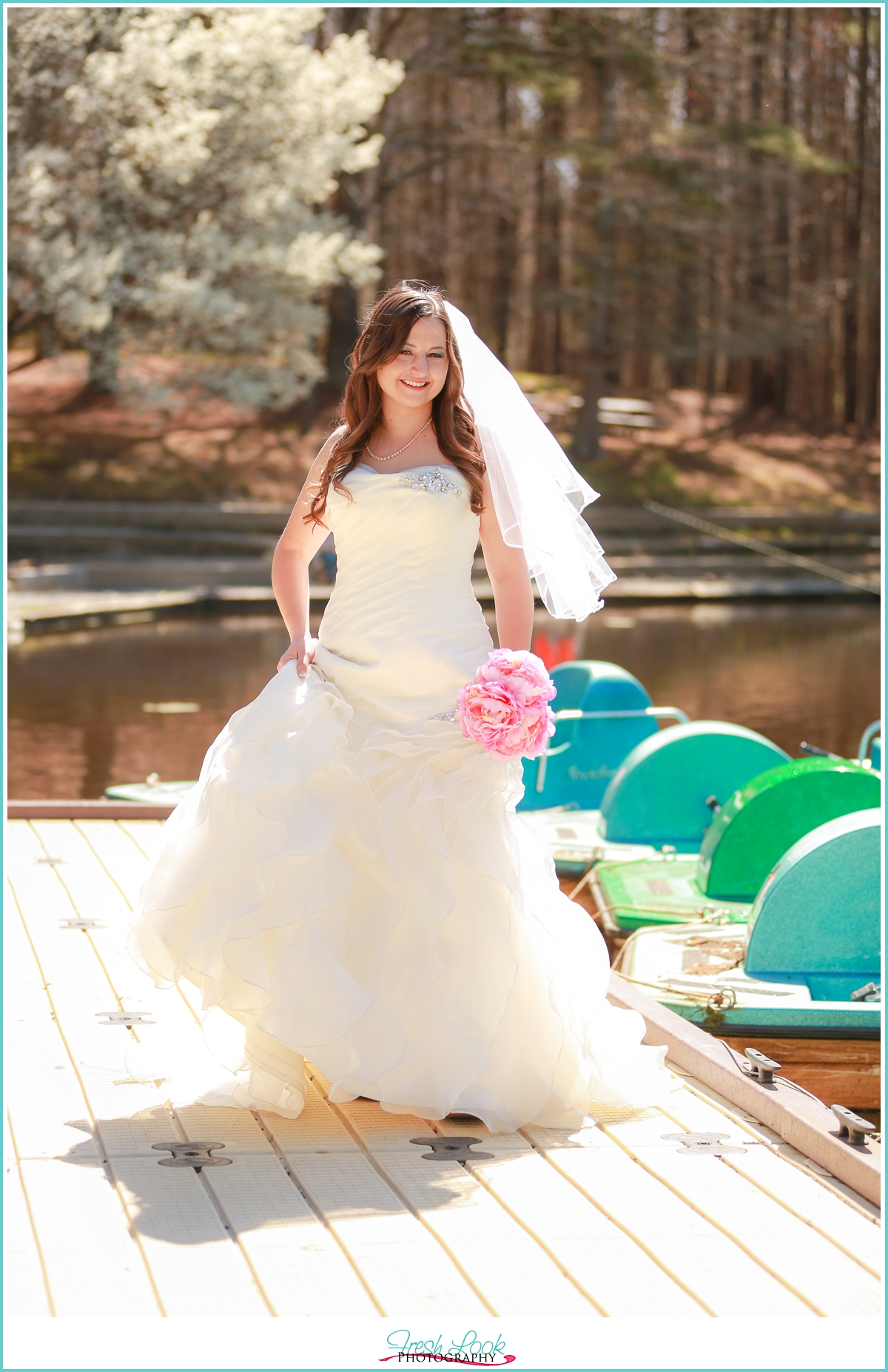 bridal portraits by water