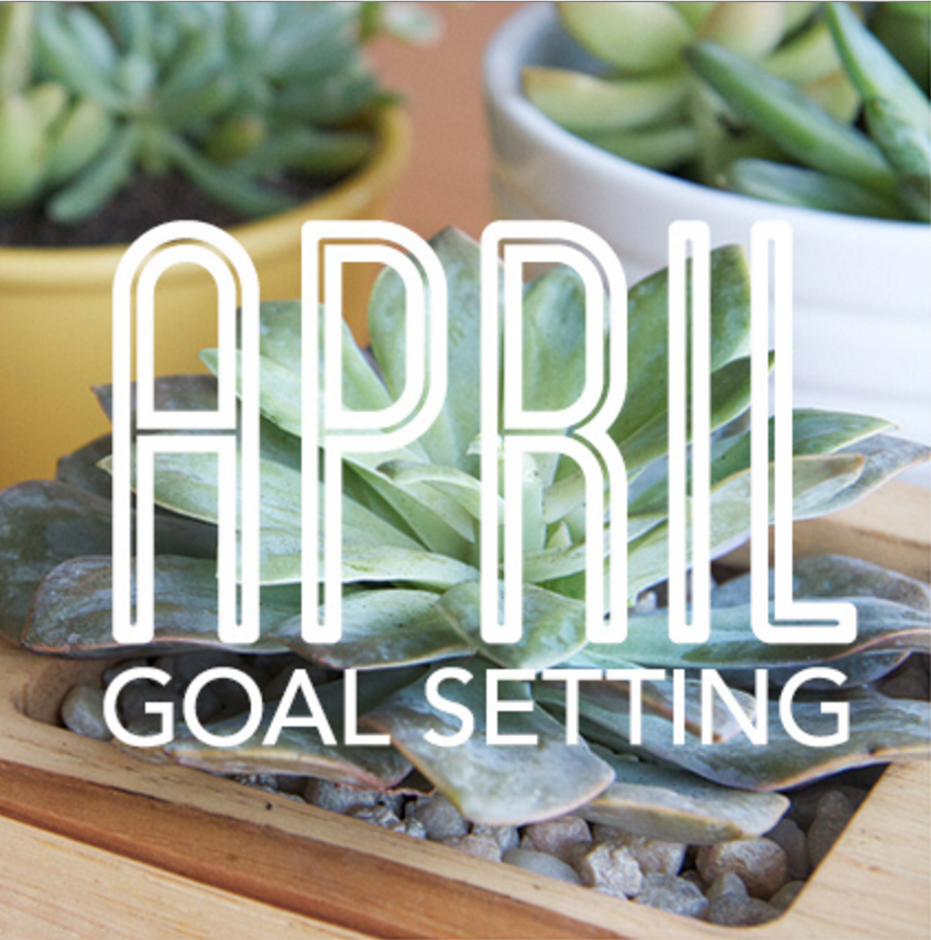 monthly goals april edition