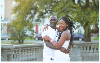 Downtown Norfolk engagement shoot