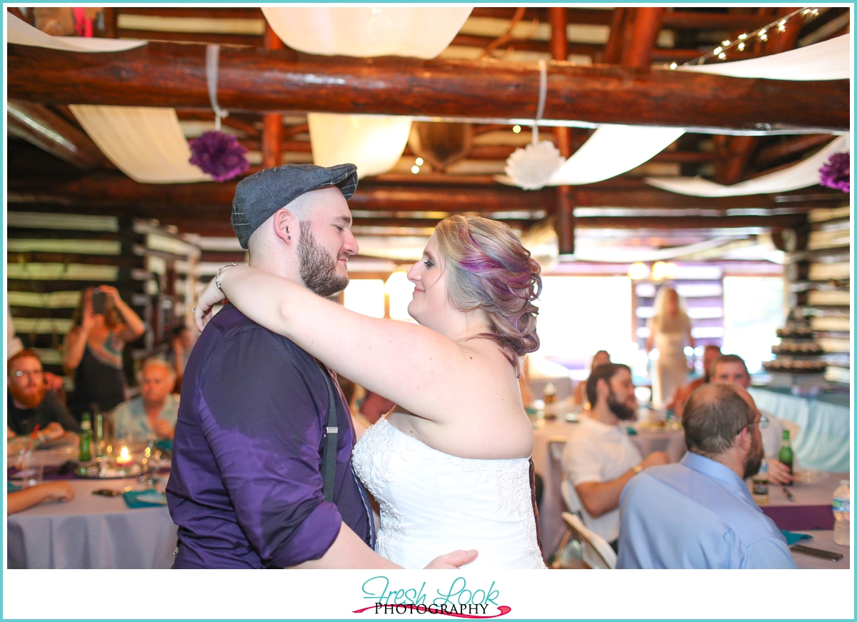 first dance at the wedding