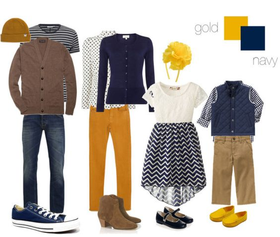 navy and gold clothing ideas