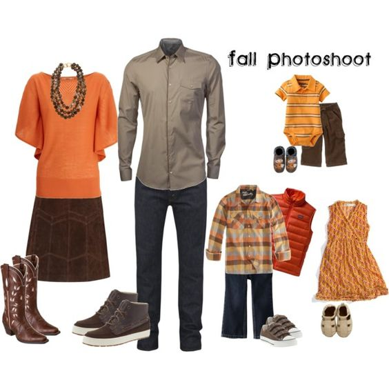 orange fall family photoshoot