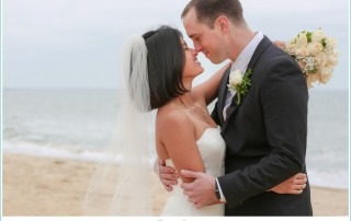 intimate beach elopement