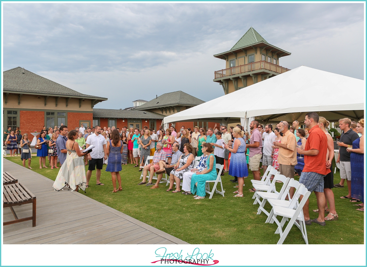 East Beach wedding ceremony