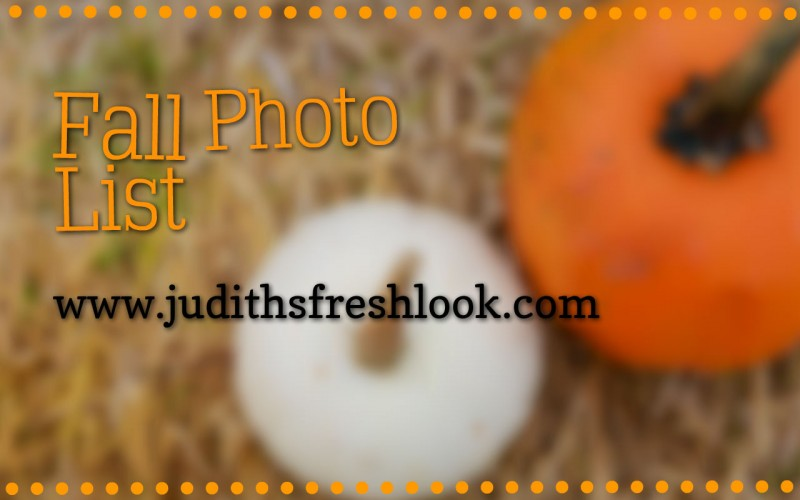 fall photo list