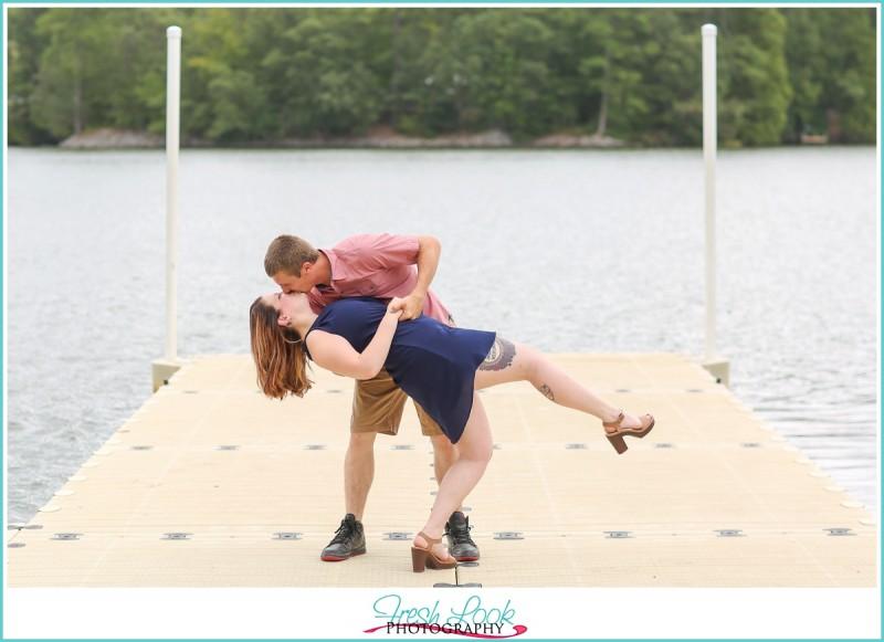 playful Virginia Beach engagement shoot