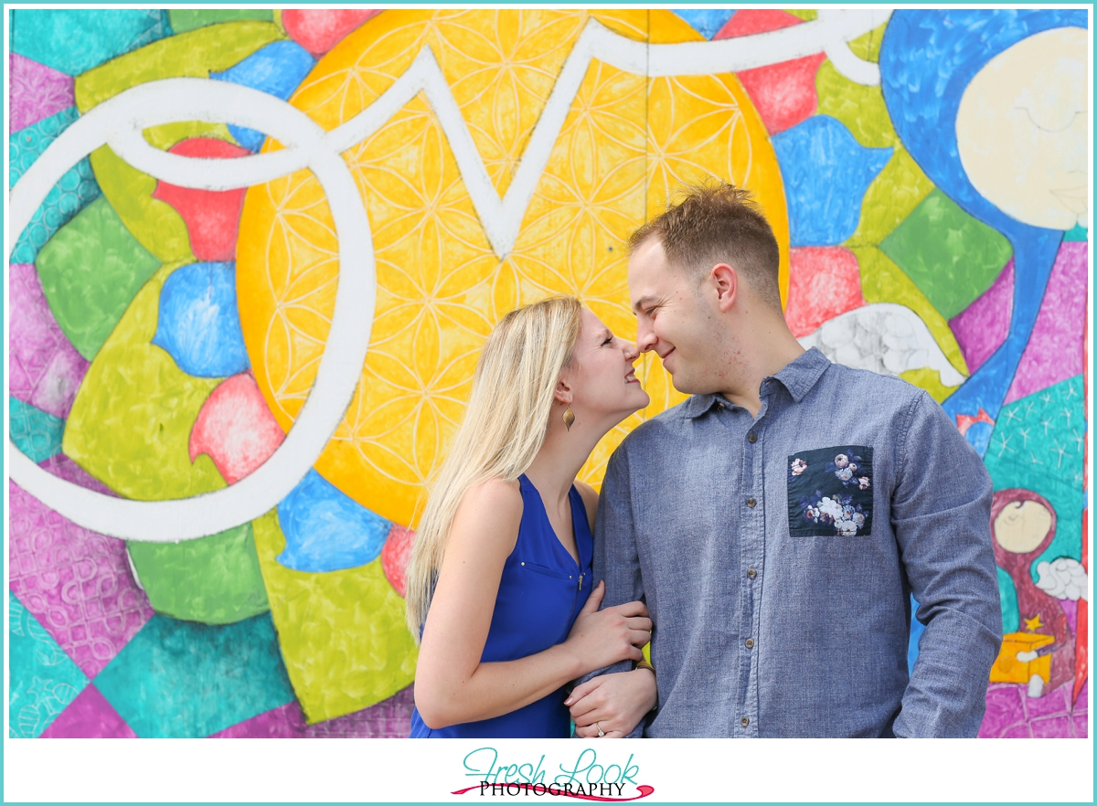 Neon District Norfolk engagement shoot