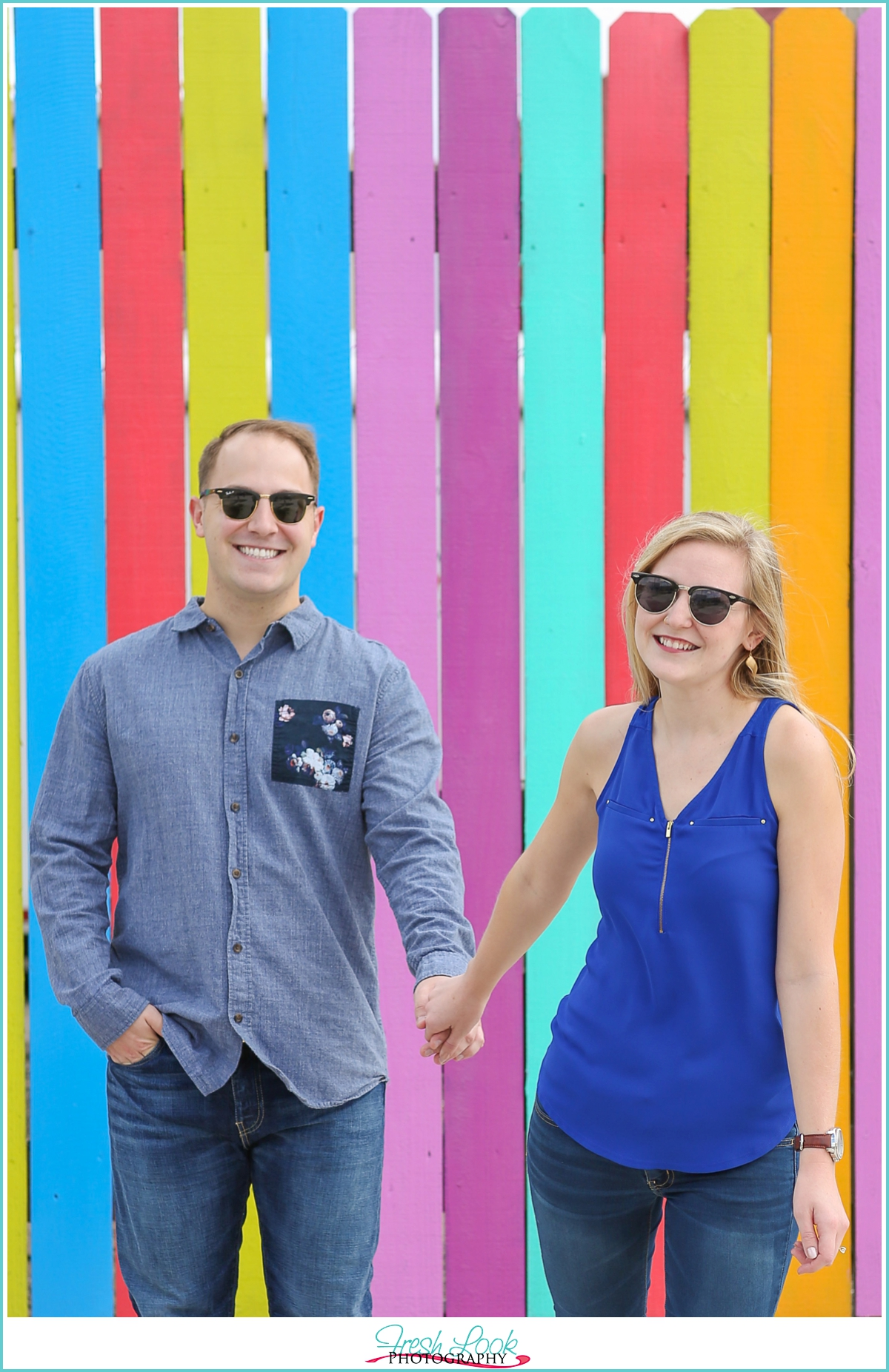 engagement shoot wearing shades