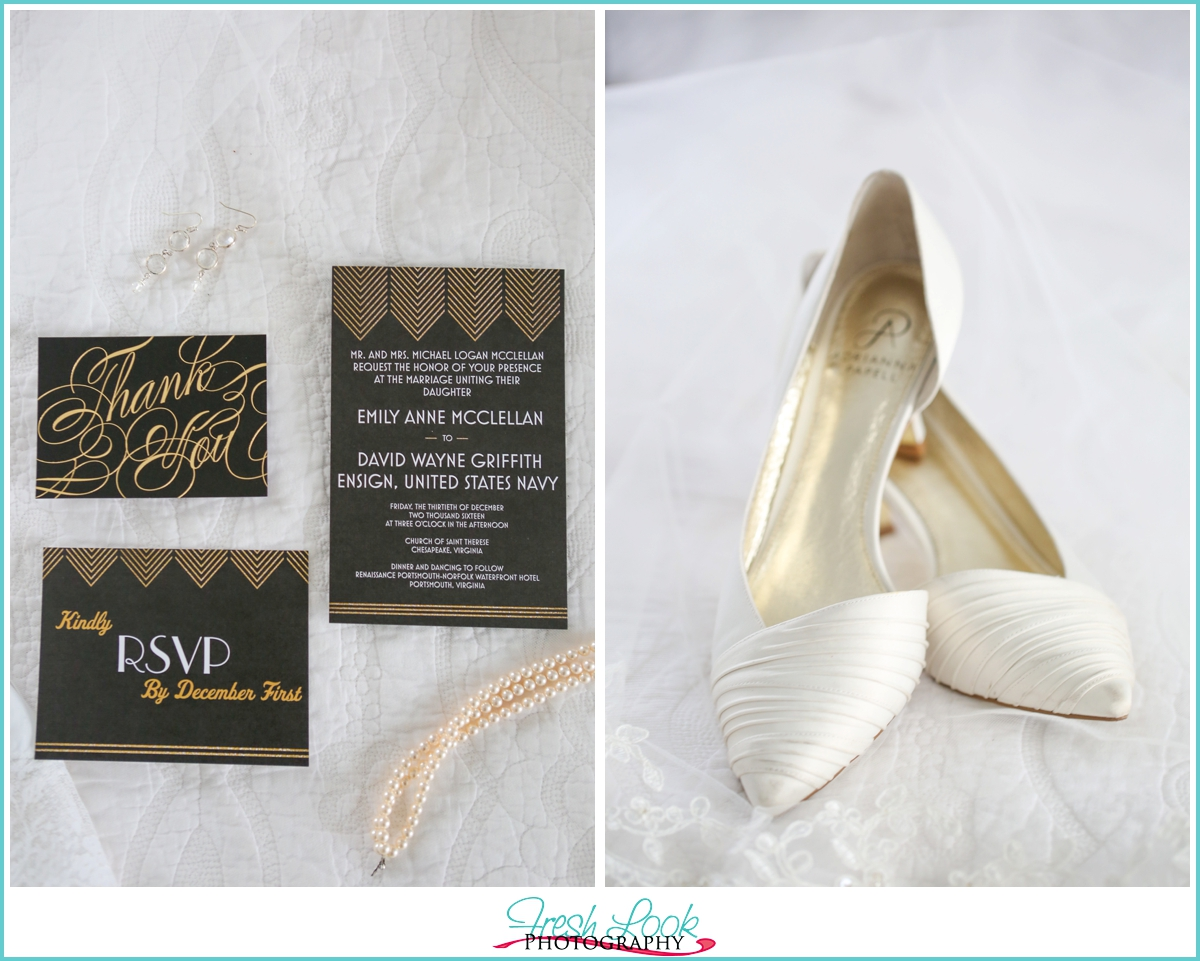 great Gatsby wedding invitations