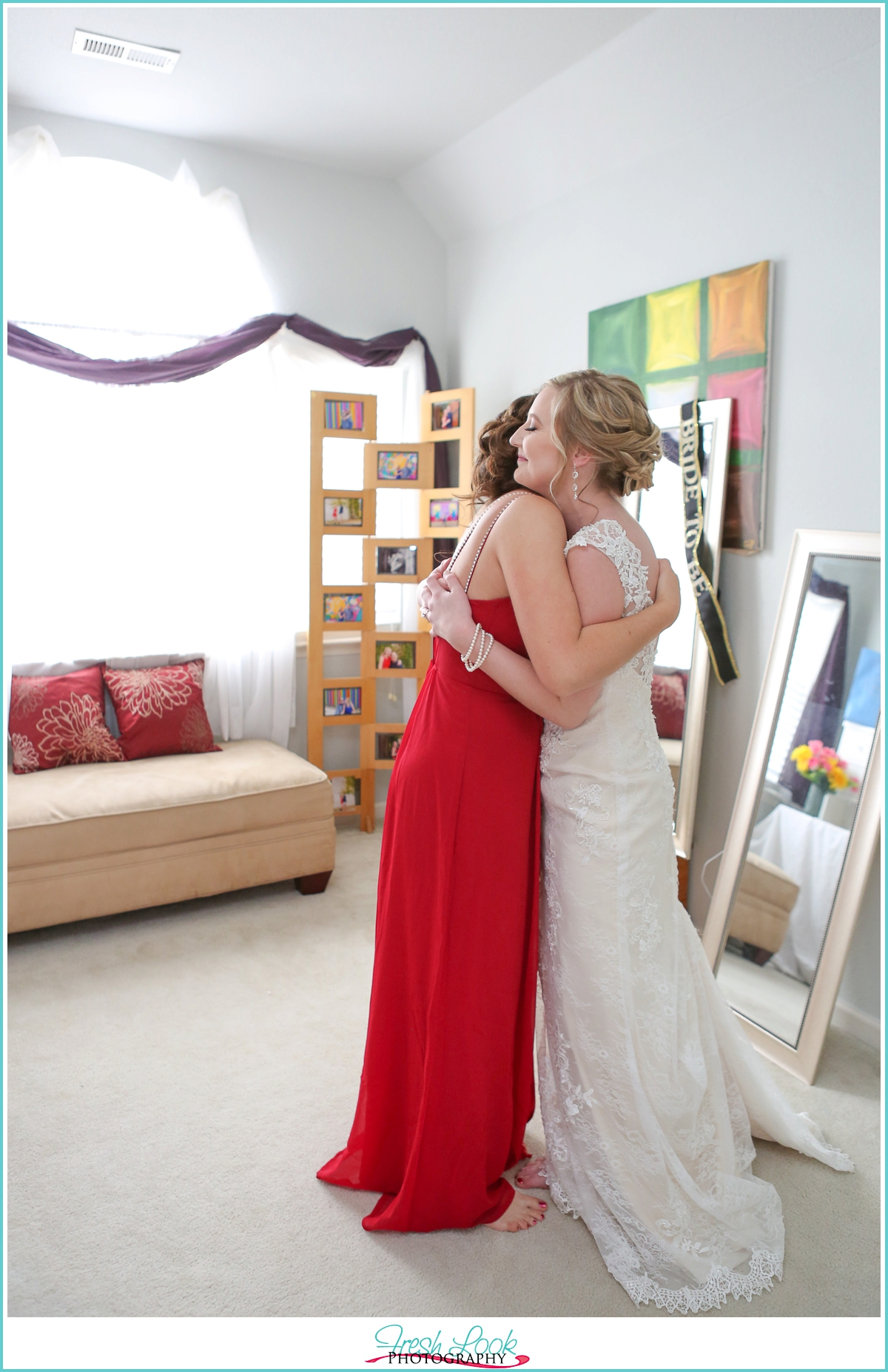 tender moment with the bride