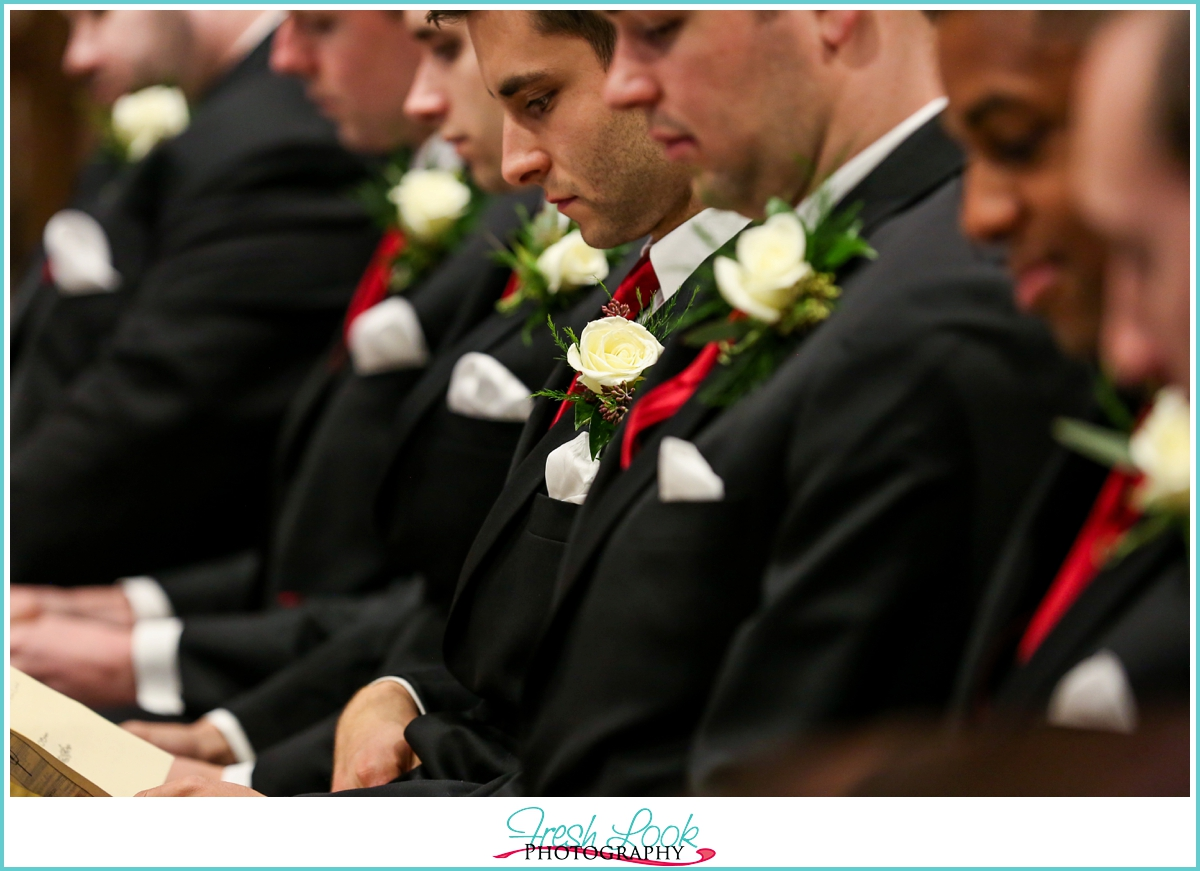 groomsmen detail