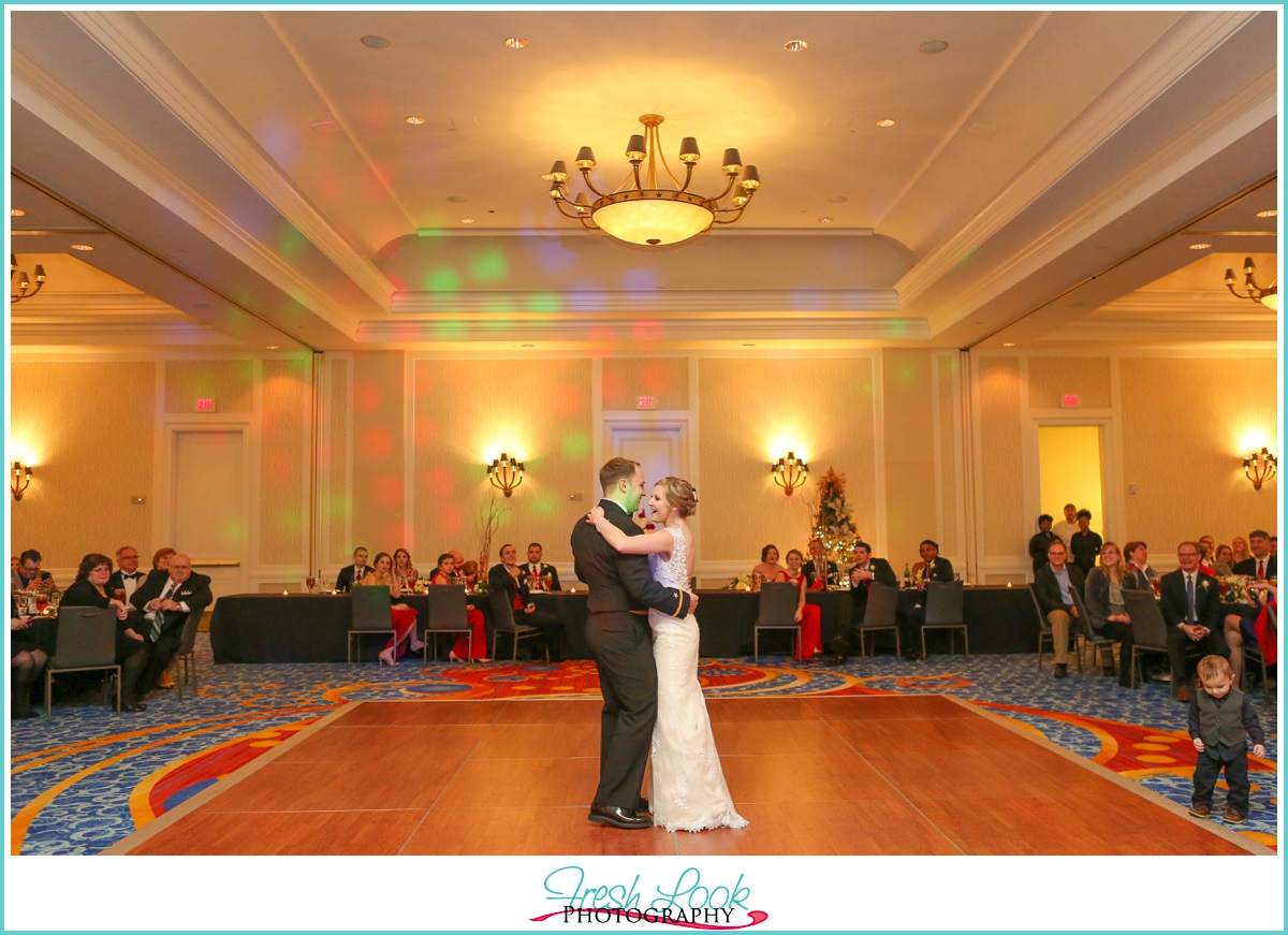wedding reception first dance