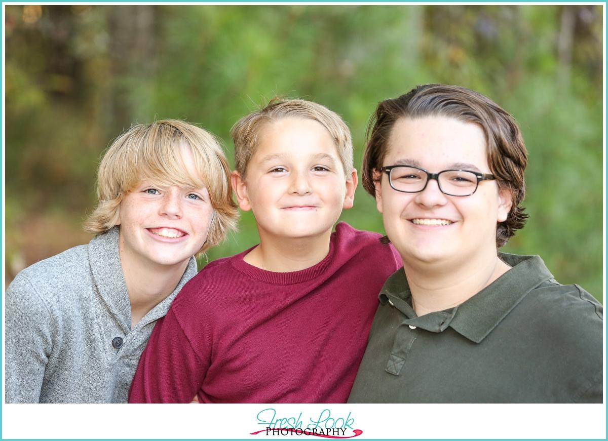 three boys in the family