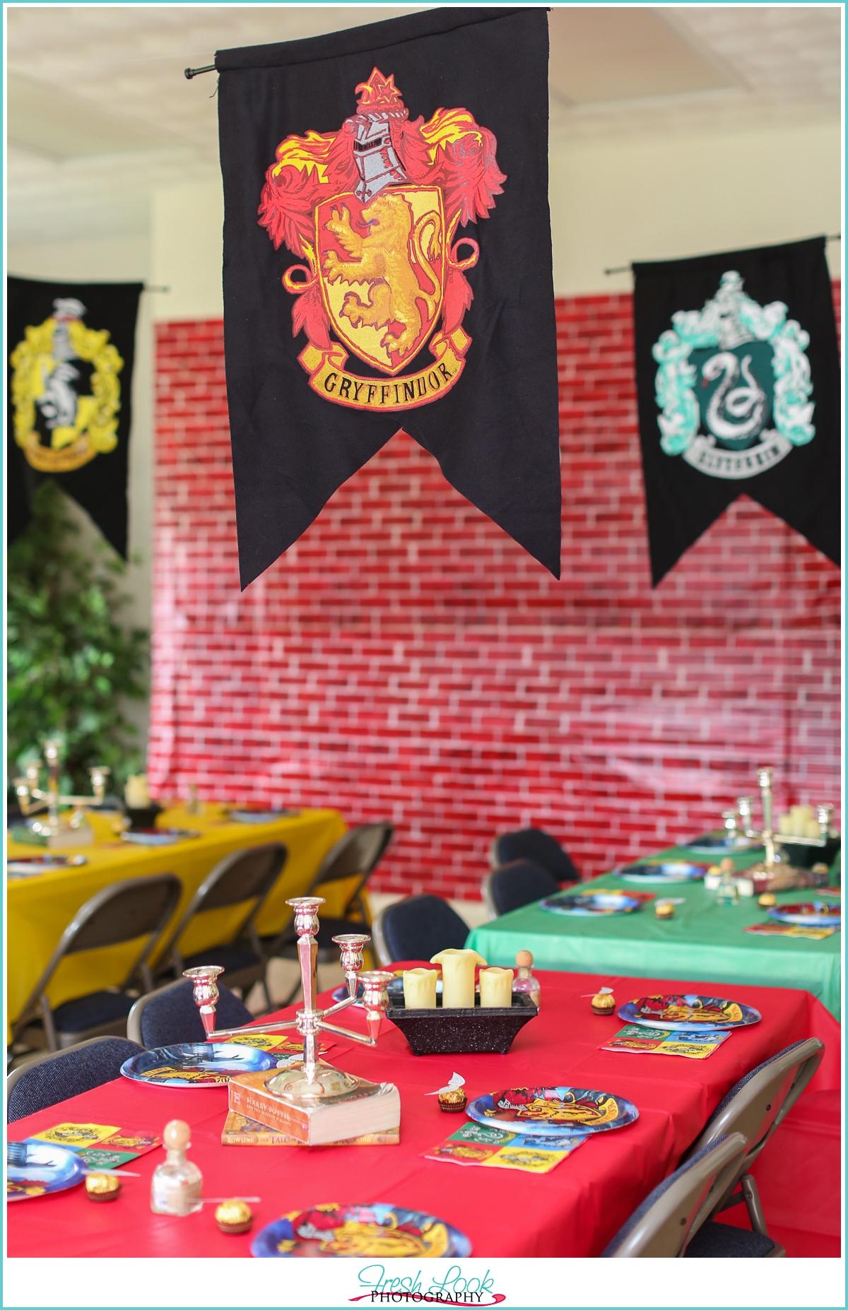 Idea Hogwarts Houses Birthday Party