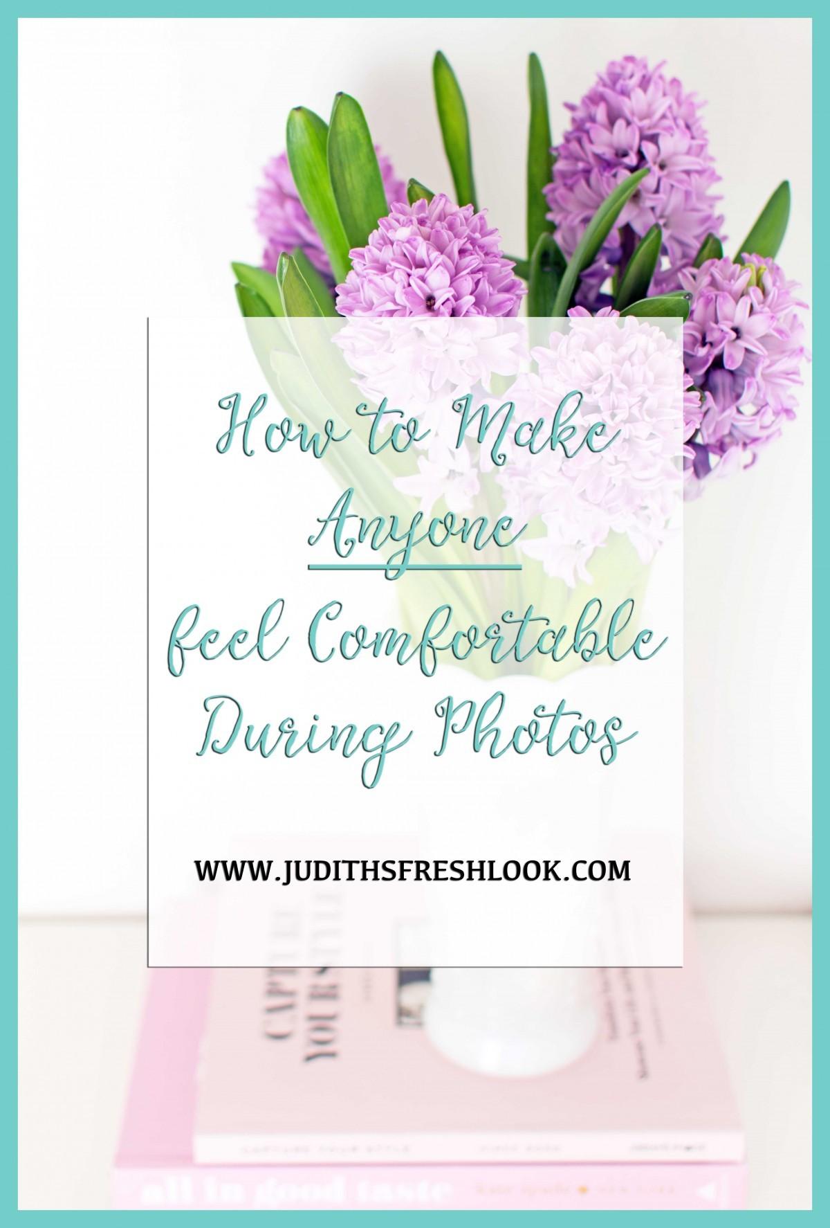Make Anyone Feel Comfortable During Photos