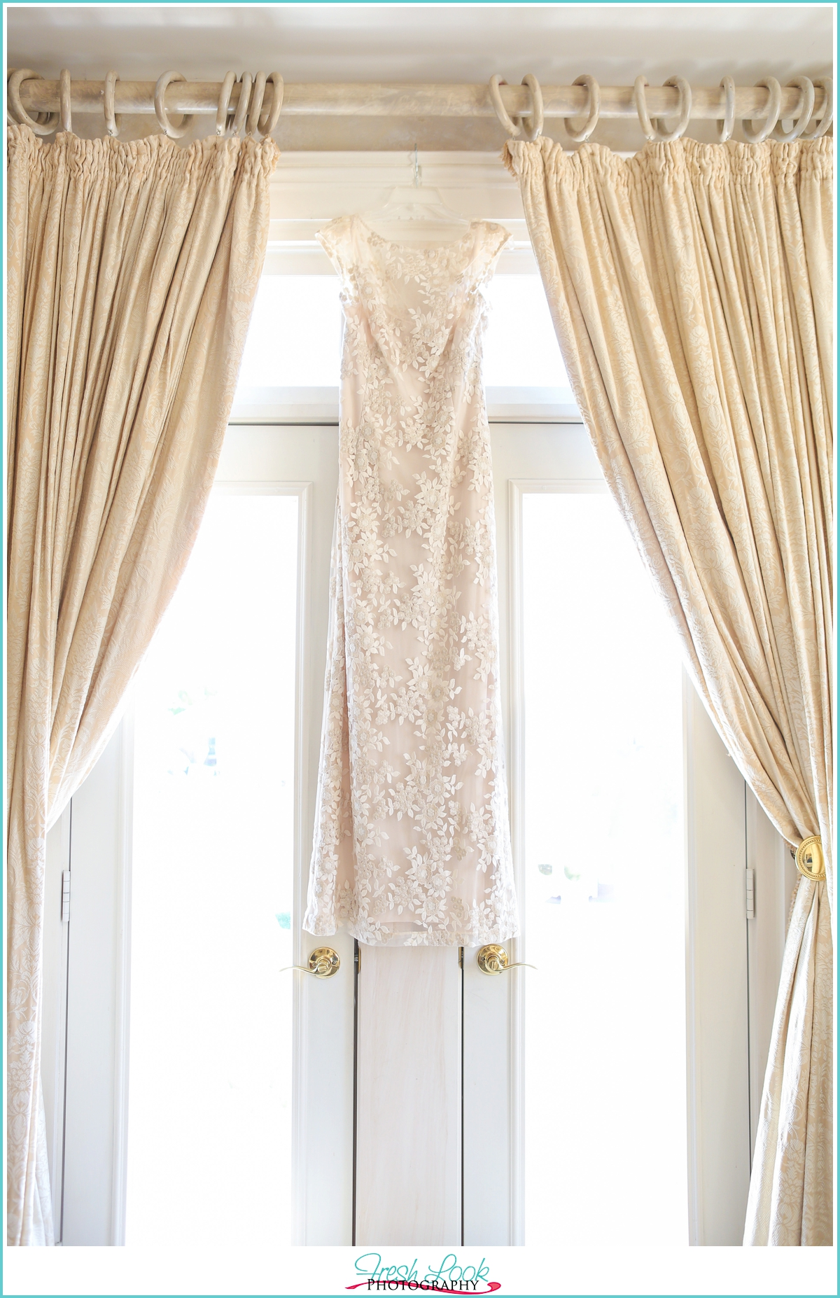 Ralph Lauren lace wedding gown