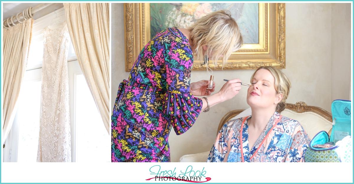 bridal makeup before the wedding
