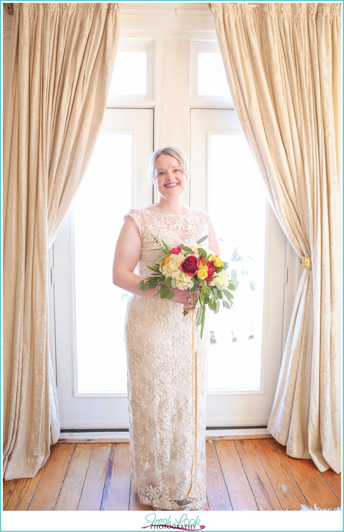 bridal portraits inside