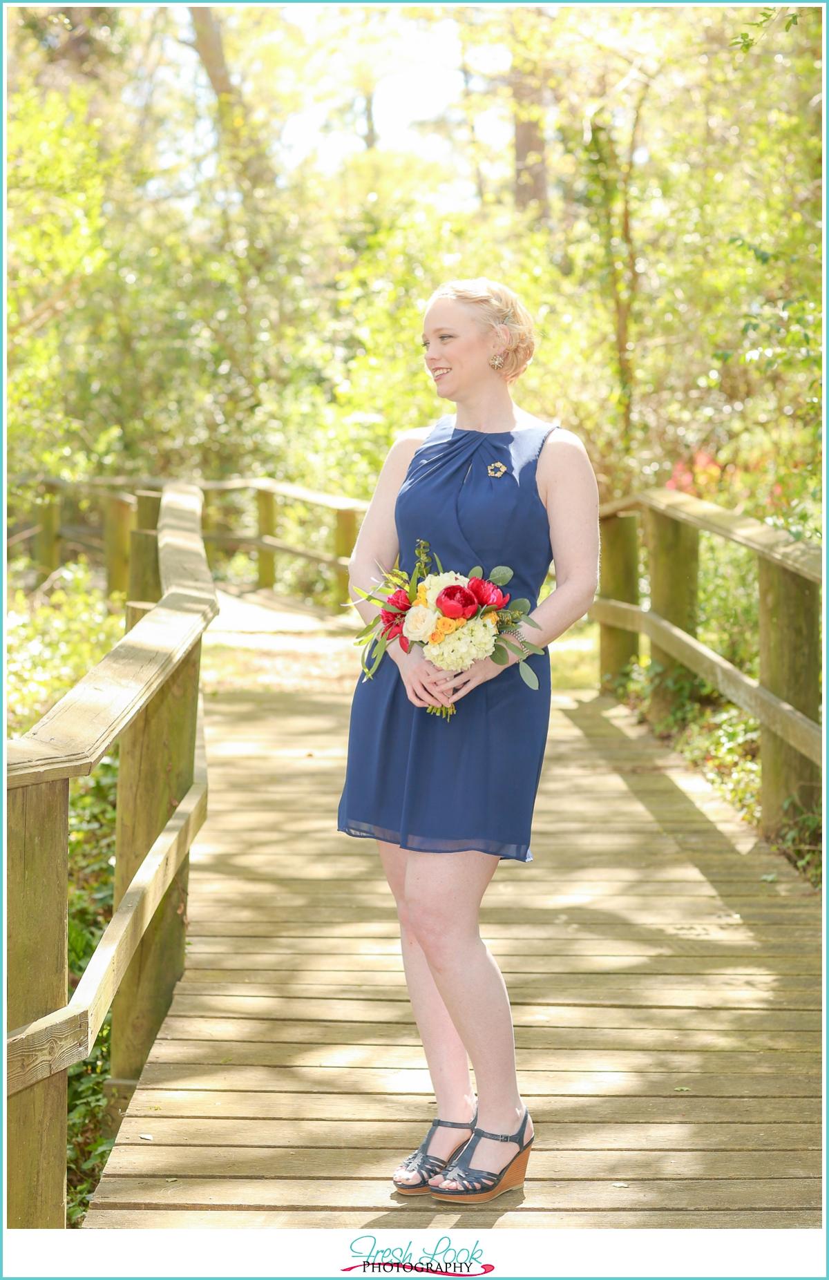 bridesmaid in Navy