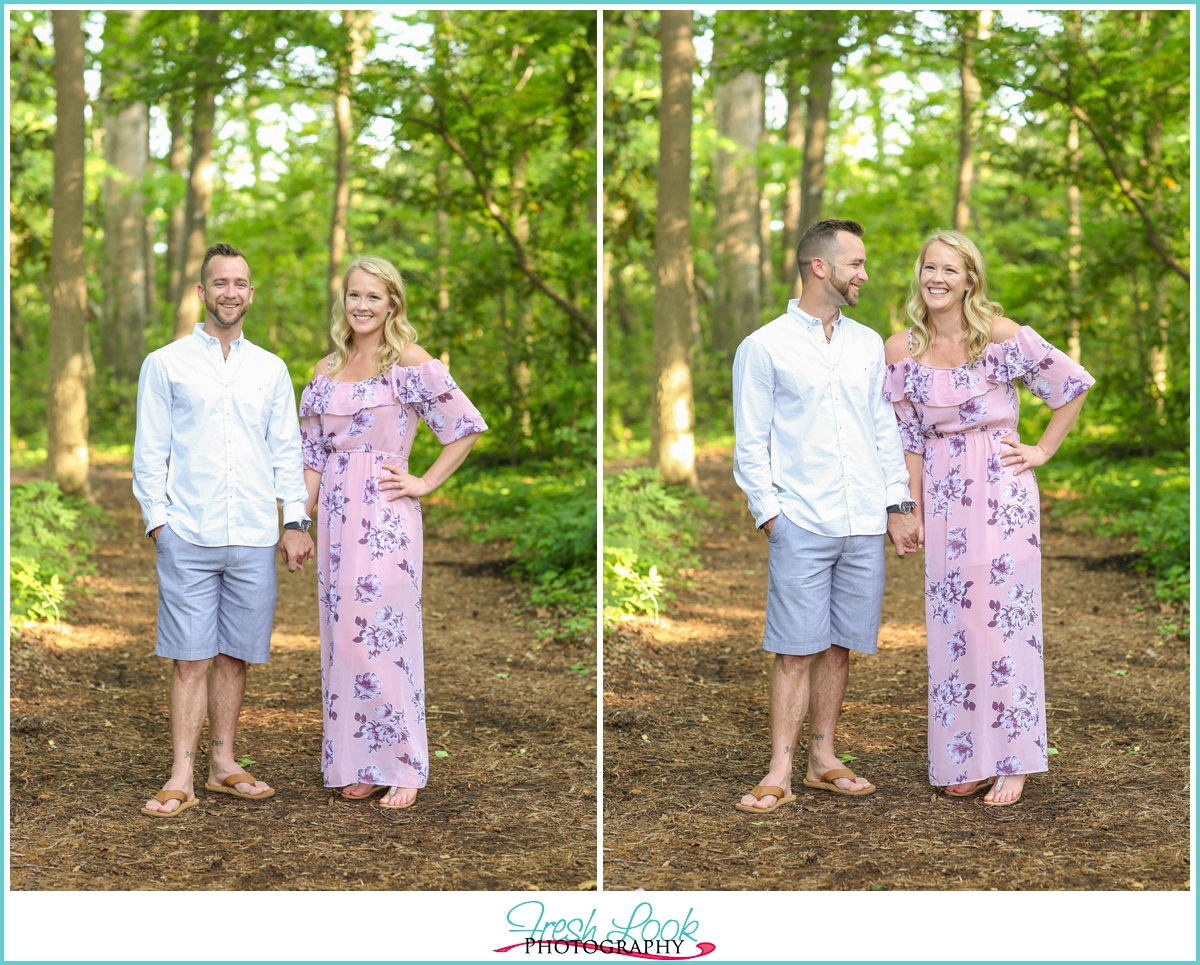 romantic spring engagement session