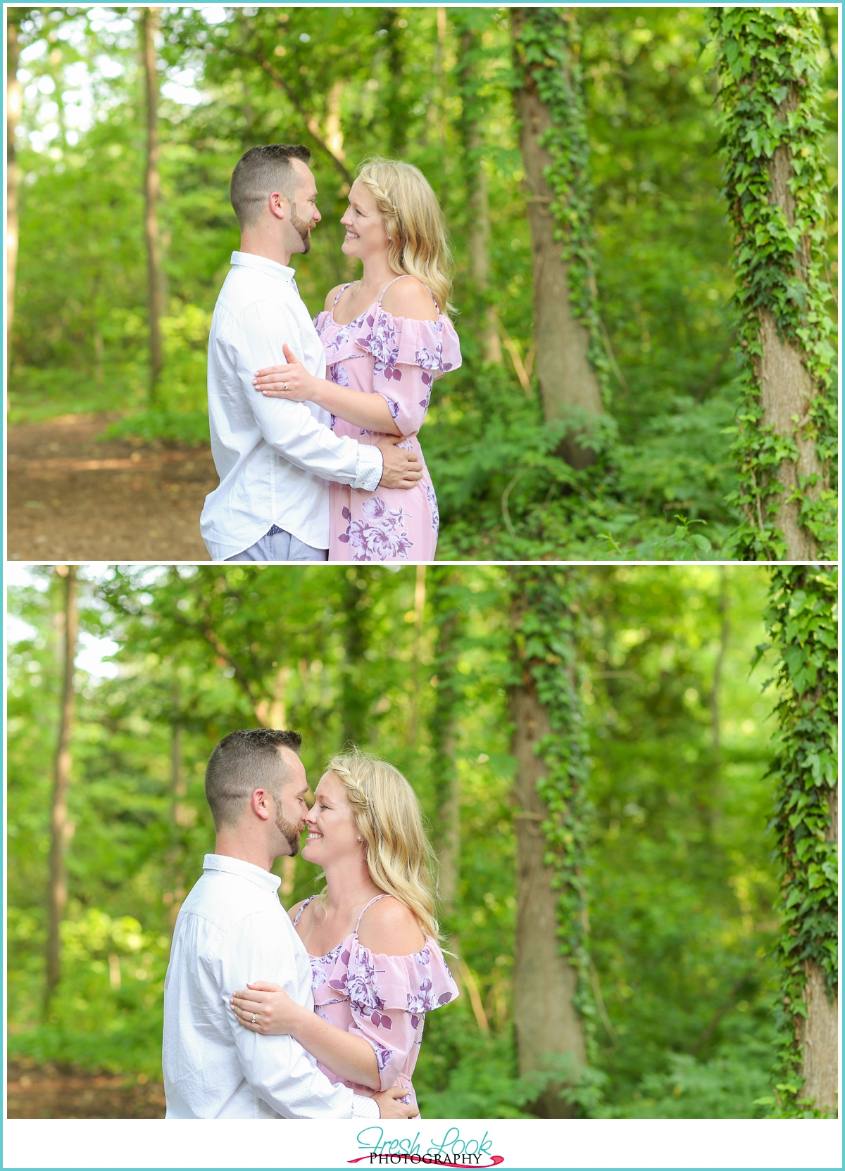 woodsy engagement photos