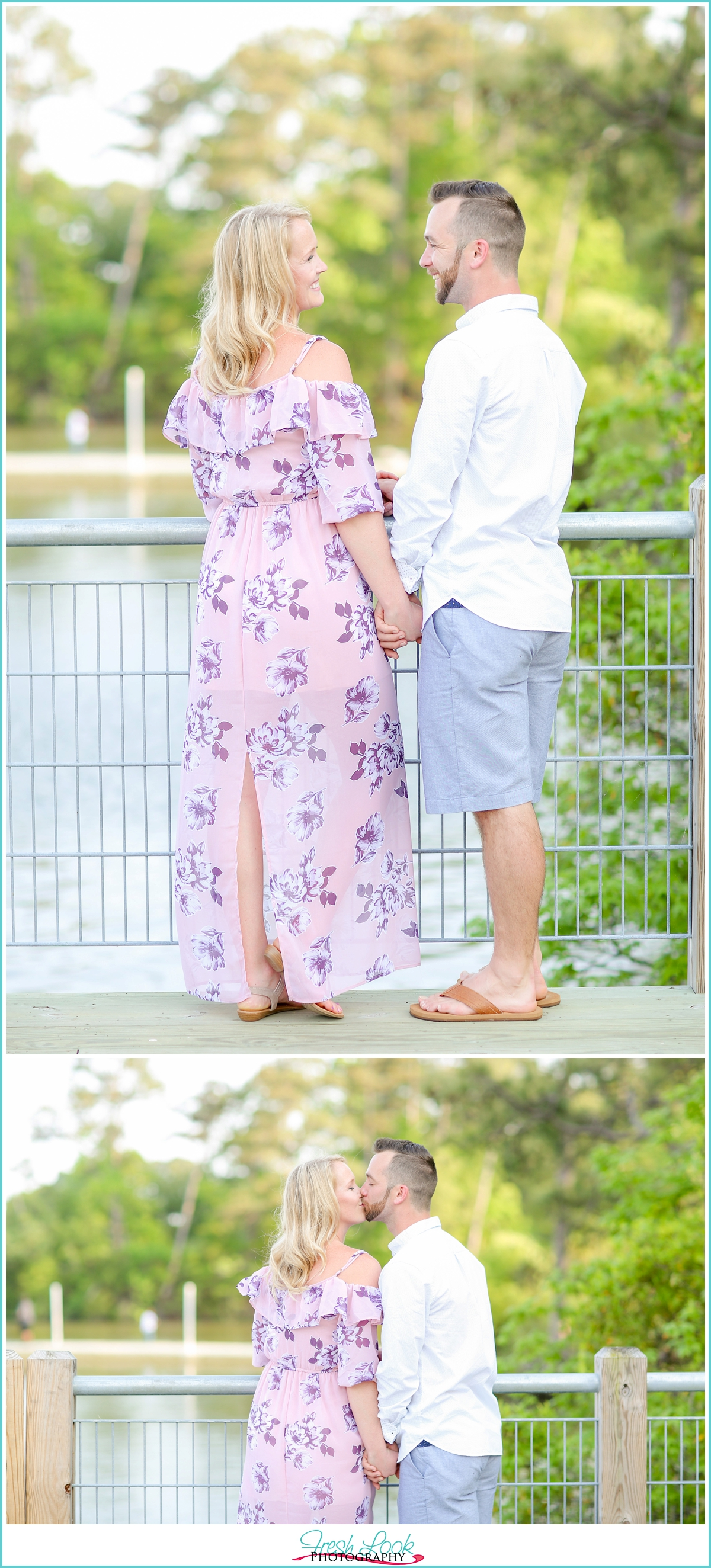 pretty in pink engagement session