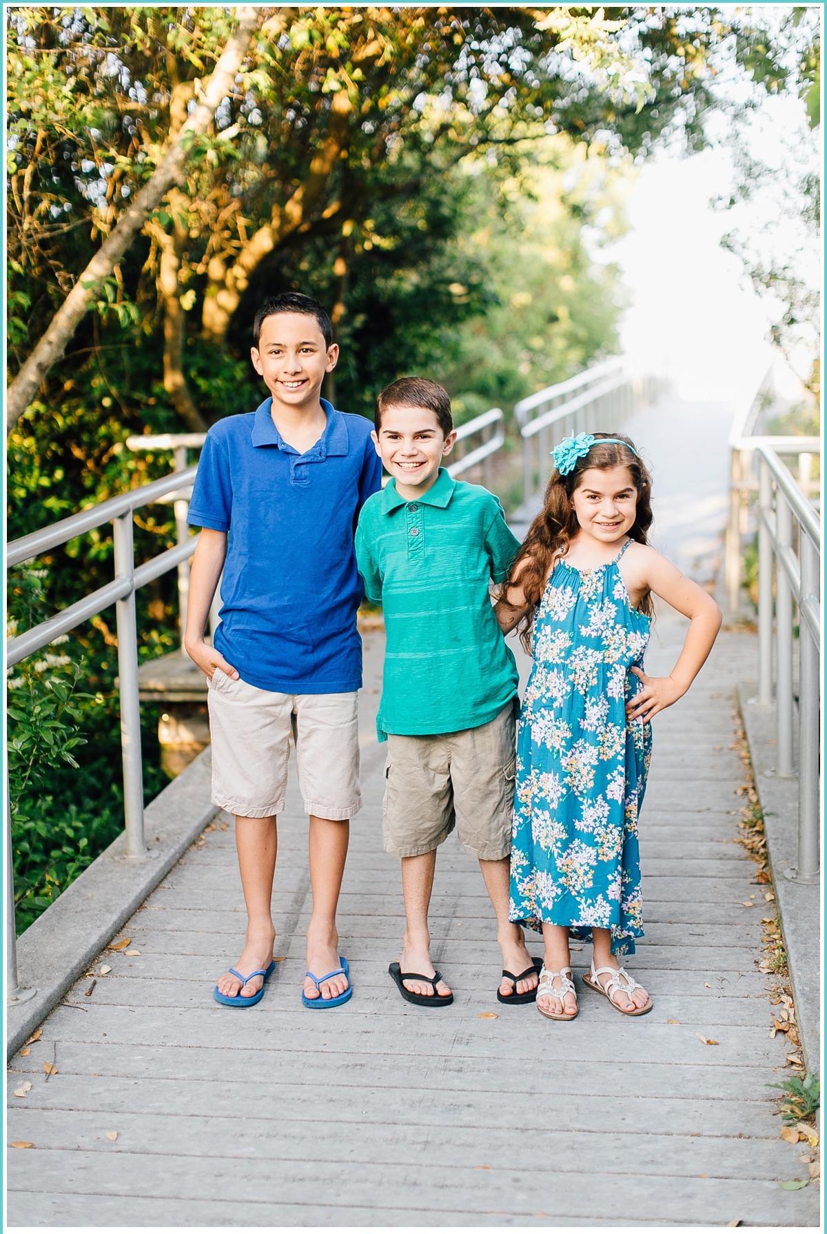 three little kids portraits